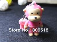 Cute Cartoon Monkey USB Drive Memory Flash 1GB 2GB 4GB 8GB 16GB 32GB Thumb Pendrive Pink