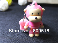 Cute Cartoon Monkey USB Drive Memory Flash 1GB 2GB 4GB 8GB 16GB 32GB Thumb Pendrive Pink