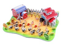 Free shipping 3D DIY handmade puzzle for child early learing---QQ pasture