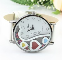 Free Shipping fashion lovely heart  Watch Women full rolling Diamond ladies Dress Watch wrist watch 5 COLORS Available