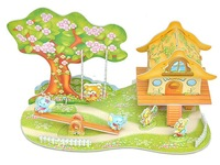 new product Free shipping   Cartoon Paradise of 3D DIY handmade puzzles for Christmas Gifts