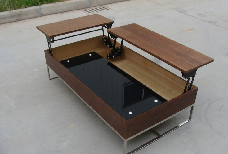 lift top up and down modern storage coffee table(China (Mainland))