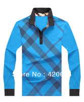 Free Shipping, Hot Sale Turtleneck Men T-shirts New 2013,  Fashion Fitness Pyrex Men Tshirts,  Plus Size XXXL mens, b6808