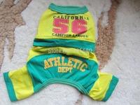 Baseball uniform No. 56 mesh breathable sportswear clothes Teddy dogs clothes