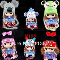 cotton winter  cildren crochet animal baby hat minions ACRYLIC BEANIE