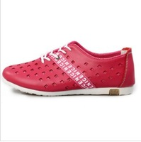 2013 Summer breathable leather shoes fashion size 35-40 shoes flat casual shoes low A247