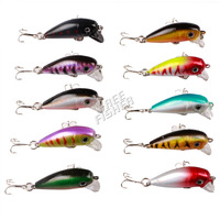 10pcs  fishing hard lures minnow lure surface lure  4cm/1.6in 3g/0.1oz  HL71