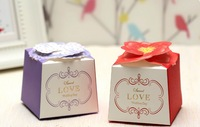 Free Shipping Wholesale  50pcs/lot Wedding package Gift Boxes & Wedding Favors Boxes Wedding Supplies Personality Candy Boxes