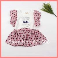 free shipping new 2013 summer Korea girl dress princess flower girl dress print cotton elegant children dress