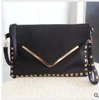 Hot-selling fashion rivet big day clutch tote bag 2013 women's handbag small bag vintage envelope bag