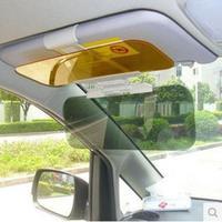 Free Shipping!Auto Sunshade Car Sun Visor Goggles Cover Reflex Block Mirror/Auto Sun Glasses Sun Visor Clip 1set/lot N208