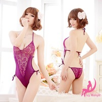 Free Shipping 2013 New Purple Body Dress,Sexy Girls Flower Dress,Promotional Cheap Sexy Lingerie 3Pcs/Lot