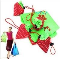 New Arrival Wholesale 80pcs/lot  Reusable Foldable Strawberry bag Several Colors Shopping Bag Wholesale Grocery Folding Bag
