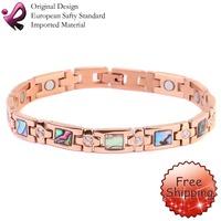 Woman Stainless Steel Bracelet 2014 Fashion Jewelry Rose Gold Healing Magnetic 316L Stainless Steel Bracelet For Men Or Women