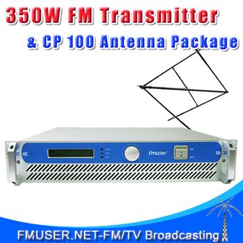 FSN-350 350w 300w  FM Radio Broadcast Transmitter+ CP100 Circular Polarized Antenna+20m SDY-50-7 Cable