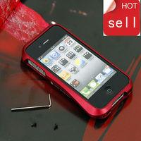 supernova sale luxury frame metal aluminium slim bumper cover case for iphone 4 4s