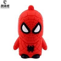 new cute cartoon usb flash drive 1-32GB mini gift, spider man , pendrive, hot sale wholesale product free shipping