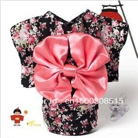 Summer Fashion Kimono Style Dog Clothes Japanese Nifty and Big Bowknot Pet Clothes Free Shipping