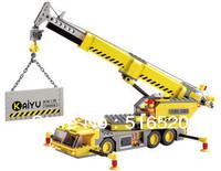 Free Shipping Kazi Crane Building Blocks Sets 380pcs Legoland Educational DIY Bricks Toys Without Orignial Box