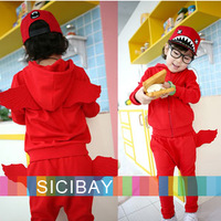 New 2014 Girls Autumn Suits Angel  Wings Design Sets Baby Kids Long Sleeve Hoodies Children Leisure Pants,Fashion Outfits K2059
