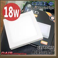 Free Shipping Newest  Product led panels High Brightness18W Cool white/Warm white CCC/CE/ROHS LED CREE 90pcs square panel led