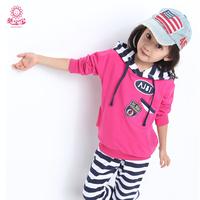 Free Shipping 2014 Children'S Clothing Autumn Female Child Autumn Set Female Big Boy Spring And Autumn Fashion Sportswear