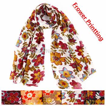 175cm*110cm Ladies fashion long women scarf 2014  jewelry scarf  Flower print scarf shawl scarves for women