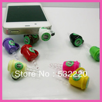Free shipping high-quality color mug Starbucks dust plug for iphone for retail Can be wholesale