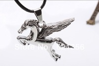 The highest sell necklace,Wings of the horse necklace jewelry,Ti steel jewelry,korea style,12pcs/lot,free shipping,QNN1061
