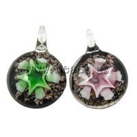 12pcs/lot Wholesale Cheap Fashion Necklaces Pendants Flower Lampwork Pendant,DIY Jewelry Making Creative Gifts