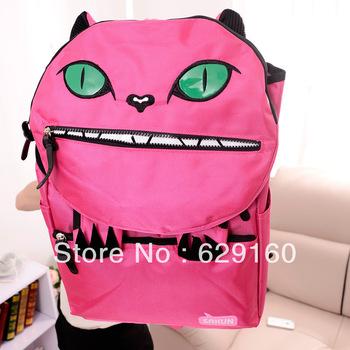 2013 new Korean Institute of wind bag backpack backpack cartoon cat big eyes