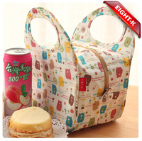 Eight-k, zoo waterproof thermal insulation lunch bag lovely bento lunch box package small bag