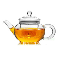 heat resistant clear glass tea pot with infuser 250ml free shipping