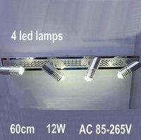 4 LED Lamps WARM WHITE Bathroom Stainless Steel Bathroom Mirror Light Aluminum Rust AC 85V~265V  bj26