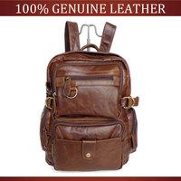 Vintage Cowhide Men Genuine Leather Backpack First layer Of Cowhide School Bag Backpack