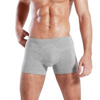 J-box sexy u breathable 1-on-1 league male modal bamboo fibre boxer panties men's mid waist sexy shorts