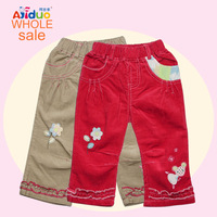 1-6Year Baby girls Leggings Autumn 2013 Fashion Baby Girl Pants 100%Cotton Baby Clothing 6Pcs/lot Flower Printed Cute Pants