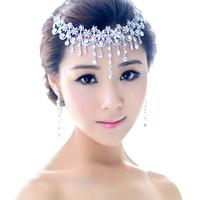 Crystal Bridal Hair Jewelry Rhinestone Headbands Wedding Hair Accessories Pageant Quinceanera Tiara Crown New 2014 WWIGO0144