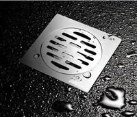 NEW bathroom kitchen shower stainless steel square floor waste grate sanitary floor drain   xx15