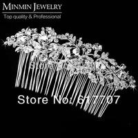 New 2014 Czech Rhinestone Imitation Gemstone Bridal Hair Combs Hairpin Hair Accessories Wedding Hair Jewelry Hot Selling 3003
