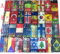 Retro National Country Flag Hard Plastic Case For Iphone 4 4S Free shipping Wholesale 50pcs/lot