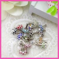 Free shipping hot sale Nest Shape Swarovski diamond dust plug for retail J.R.Fashion Can be wholesale
