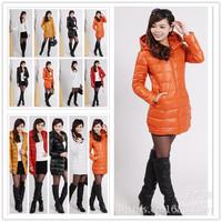 free shipping,2014 new arrival women fashional pure color slim fit korea long plus size L-XXL winter jacket women coat ,C984