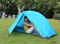 New Arrival One Man Camping Tent  Aluminium ROD  Blue single person tent  free shipping quality guarantee