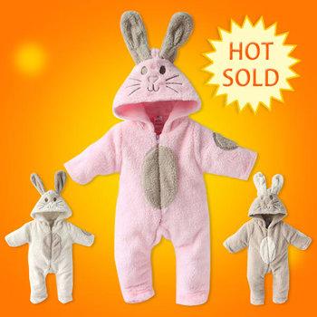 2014 new baby boy/girl  winter modelling rompers baby one-piece romper children warm jumpsuit Polar fleece baby bodysuits1pcs