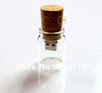 Crystal Glass Bottle Design USB 2.0 Drive 1GB 2GB 4GB 8GB 16GB 32GB Memory Flash Thumb Stick Cute Can Disk