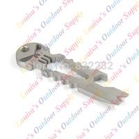Tiremet Titanium High Quality Multi-functional Pocket Survival EDC Keyring Keychain Emergency Tool