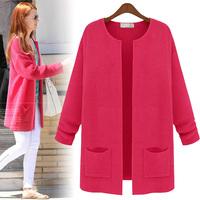 2014 autumn women's spring and autumn medium-long sweater female autumn outerwear female cardigan autumn outerwear