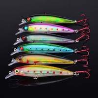 Hot-selling,6 colors Fishing bait 11.2CM/13.6G laser Minnow fishing lures,6pcs/lot fishing tackle free shipping
