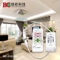 8pcs/lot Constant voltage PWM 4A LED dimmer DC12-24V mini  RF remote Dimmer For LED light